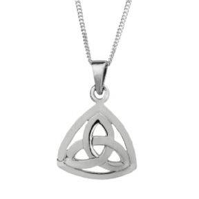 Celtic Trinity Knoy Silver Plated Triangle Pendant 9177